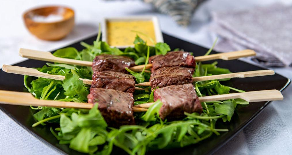 Steak brochettes canapes