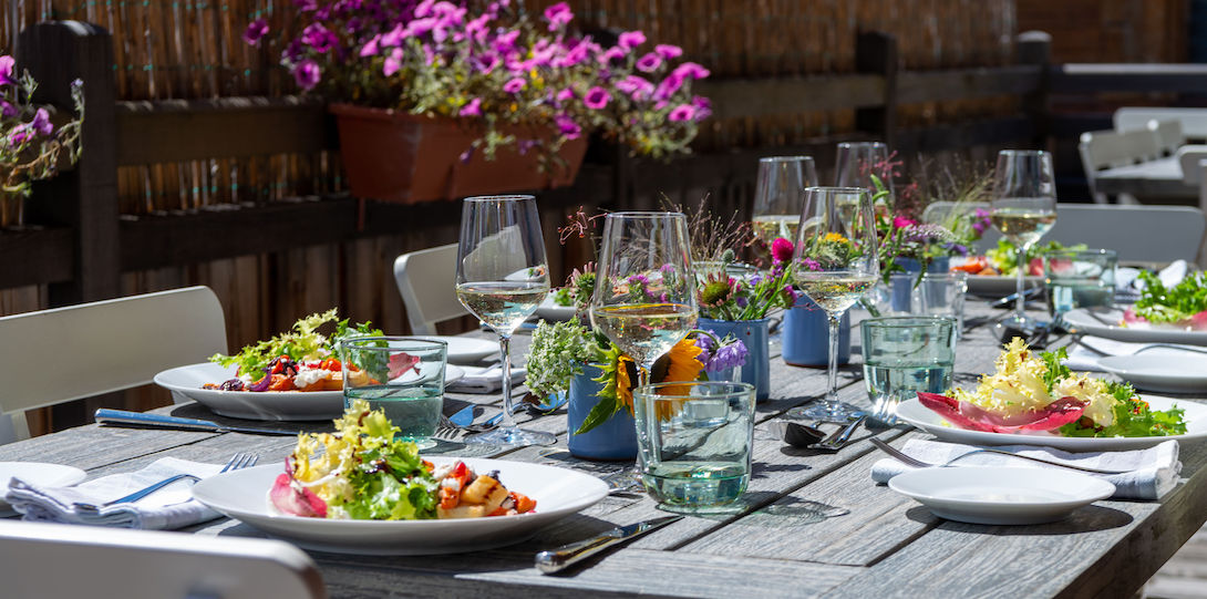 lunch on our terrace